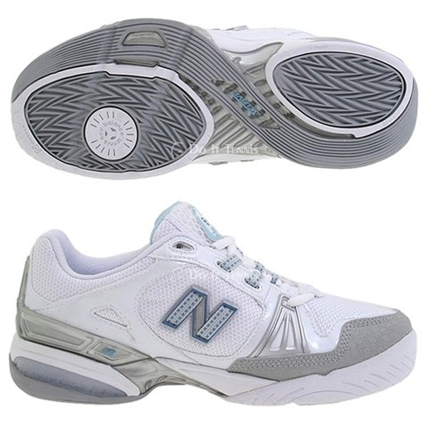 New Balance Women's WCT1004W (B) Tennis Shoe (Wht/ Gry)