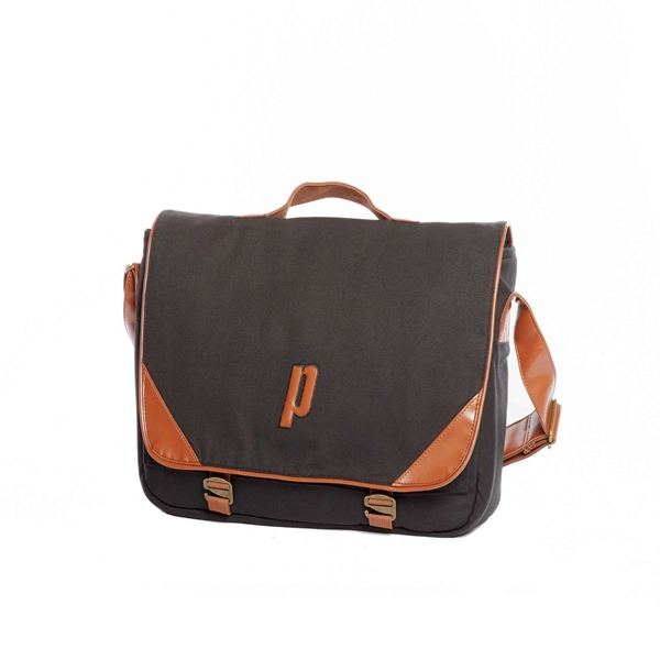 57ab7577ae Prince Classic Messenger Bag (Black  Tan) - Do It Tennis
