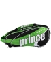 Prince Tour Team Green 12 Pack (Black/ White/ Green) - Prince Tour Team Tennis Bags and Backpacks