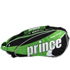 Prince Tour Team Green 6 Pack (Black/ White/ Green) - Prince Tennis Bags