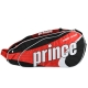 Prince Tour Team Red 6 Pack (Black/ White/ Red) - Prince Tour Team Collection Tennis Bags