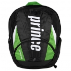 Prince Tour Team Green Backpack (Black/ White/ Green) - New Prince Racquets & Bags
