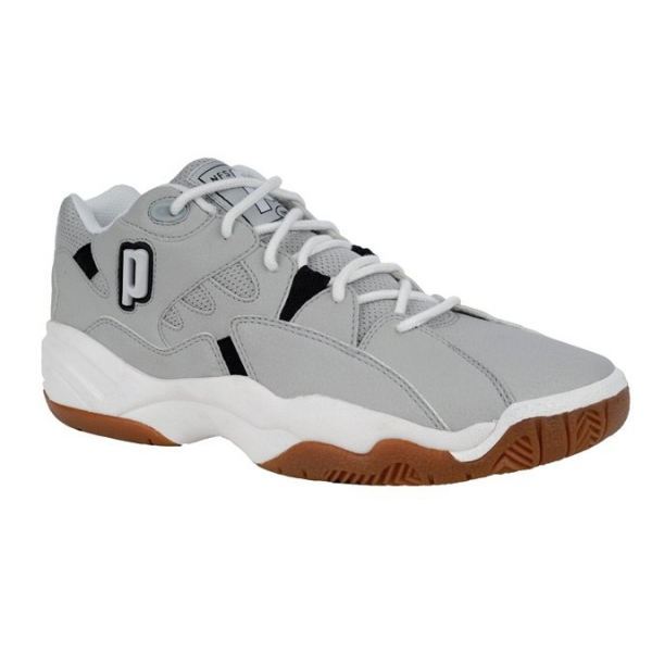 Prince Men's NFS Indoor II Shoes (Grey/ White/ Black)