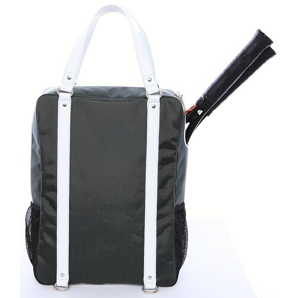Cortiglia Brisbane Tennis Backpack (Grey & White)