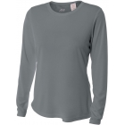 A4 Women's Performance Long Sleeve Crew (Graphite) - A4 Tennis Apparel