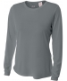 A4 Women's Performance Long Sleeve Crew (Graphite) - A4 Women's Long-Sleeve Shirts Tennis Apparel