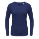 A4 Women's Performance Long Sleeve Crew (Navy) - A4 Women's Long-Sleeve Shirts Tennis Apparel