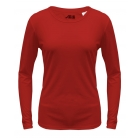 A4 Women's Performance Long Sleeve Crew (Scarlet) - Women's Tops Long-Sleeve Shirts Tennis Apparel