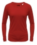 A4 Women's Performance Long Sleeve Crew (Scarlet) - A4 Women's Apparel Tennis Apparel
