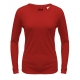 A4 Women's Performance Long Sleeve Crew (Scarlet) - A4 Women's Long-Sleeve Shirts Tennis Apparel