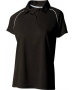 A4 Women's Moisture Management Polo Shirt (Black/ White) CLEARANCE - Tennis Apparel