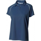 A4 Women's Moisture Management Polo Shirt (Navy/ White) CLEARANCE - A4 Tennis Apparel