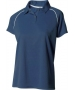 A4 Women's Moisture Management Polo Shirt (Navy/ White) CLEARANCE - Tennis Apparel