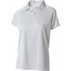 A4 Women's Moisture Management Polo Shirt (White) CLEARANCE - A4 Tennis Apparel