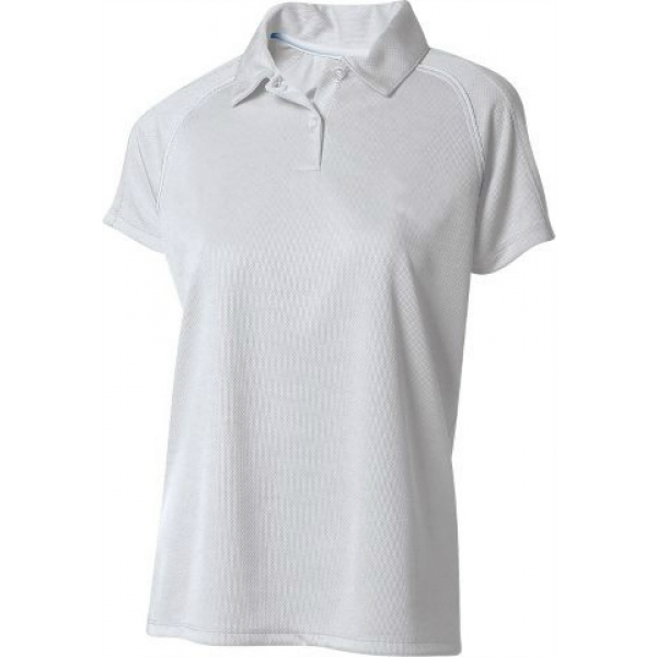 A4 Women's Moisture Management Polo Shirt (White)
