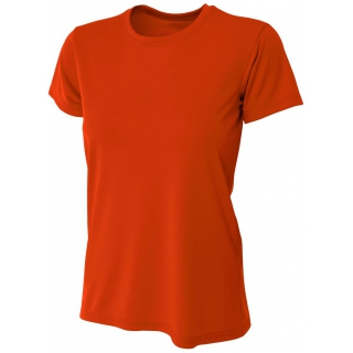 A4 Women's Cooling Performance Crew (Orange)