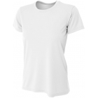 A4 Women's Cooling Performance Crew (White) - Women's Tennis Apparel