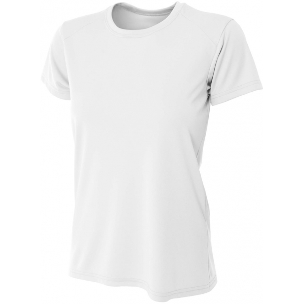 A4 Women's Cooling Performance Crew (White)