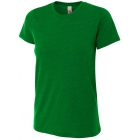 A4 Women's Performance Tri Blend Tee (Kelly) -