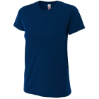 A4 Women's Performance Tri Blend Tee (Navy) - Brands