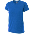 A4 Women's Performance Tri Blend Tee (Royal) - A4