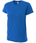A4 Women's Performance Tri Blend Tee (Royal) - A4 Men's T-Shirts & Crew Necks Tennis Apparel