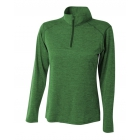 A4 Women's Inspire Quarter Zip Long Sleeve Tennis Warm Up Top (Kelly) - A4 Apparel