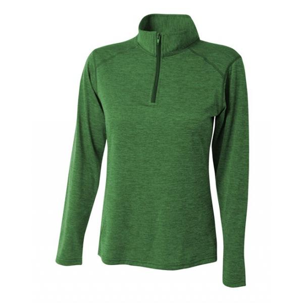A4 Women's Inspire Quarter Zip Long Sleeve Tennis Warm Up Top (Kelly)