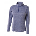 A4 Women's Inspire Quarter Zip Long Sleeve Tennis Warm Up Top (Light Blue) - A4 Apparel