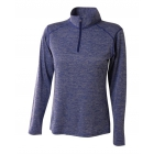 A4 Women's Inspire Quarter Zip Long Sleeve Tennis Warm Up Top (Royal) - A4 Apparel