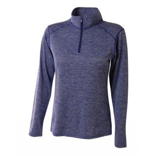 A4 Women's Inspire Quarter Zip Long Sleeve Tennis Warm Up Top (Royal)