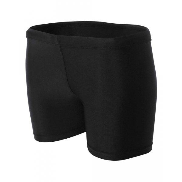 A4 Women's 4 Inch Compression Short (Black)