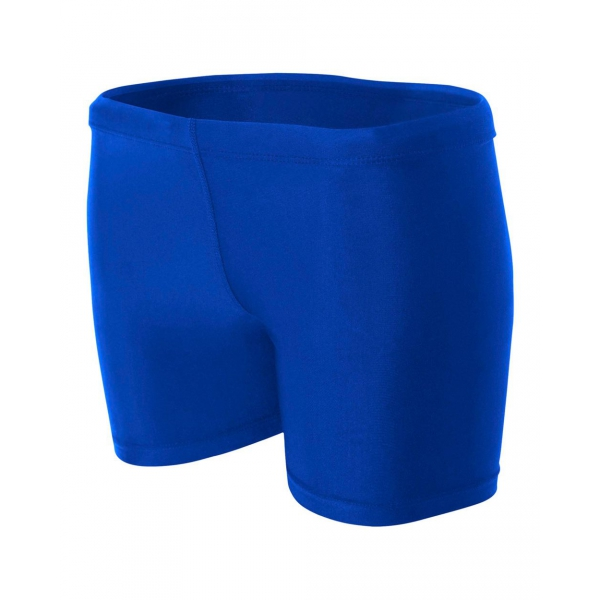 A4 Women's 4 Inch Compression Short (Royal)
