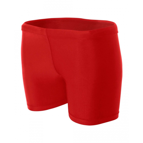 A4 Women's 4 Inch Compression Short (Scarlet)