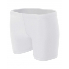 A4 Women's 4 Inch Compression Short (White) -