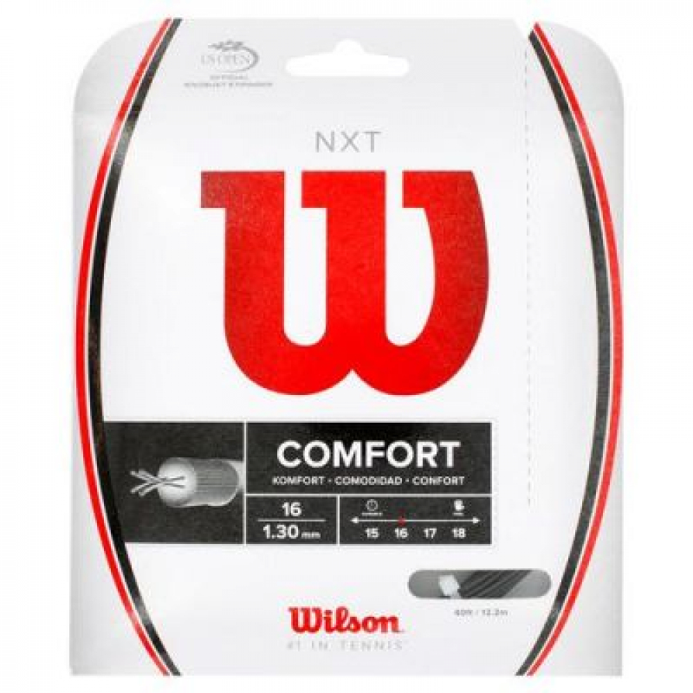 Wilson NXT 17g Black Tennis String (Set)