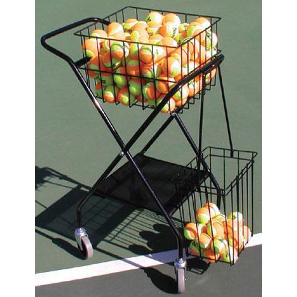 OnCourt OffCourt Mini Coach's Tennis Ball Cart w/ Mesh Divider