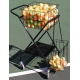 Oncourt Offcourt Mini Coach's Tennis Ball Cart w/ Mesh Divider - Oncourt Offcourt