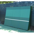REAListic Straight-Tilt Tennis Backboard 8'H x 12'W - Sloped Tennis Rebound Walls