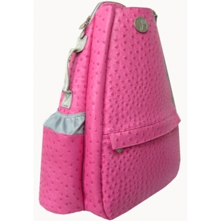 Jet Ostrich Bold Pink Small Sling