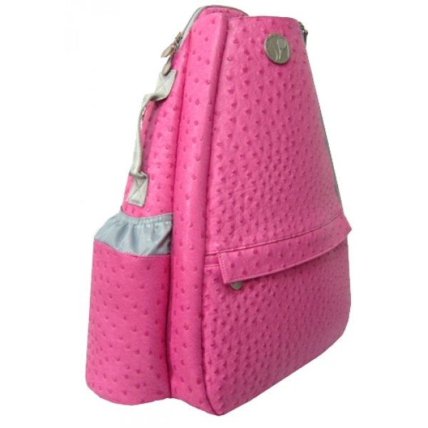 Jet Ostrich Bold Pink Small Sling Convertible