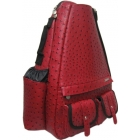 Jet Ostrich Crimson Small Sling Elite Convertible - Jet Small  Elite Convertible Tennis Bags