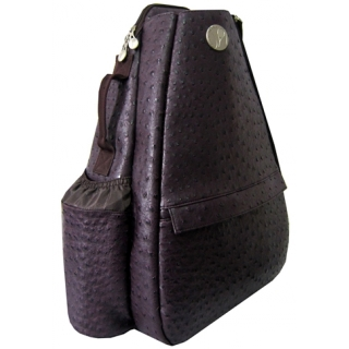Jet Ostrich Eggplant Small Sling