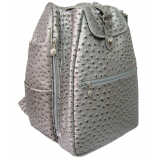 Jet Ostrich Metallic Silver Cooljet Tennis Bag
