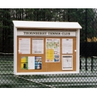 Outpost Model 1 Outdoor Display Board - Tennis Equipment Types