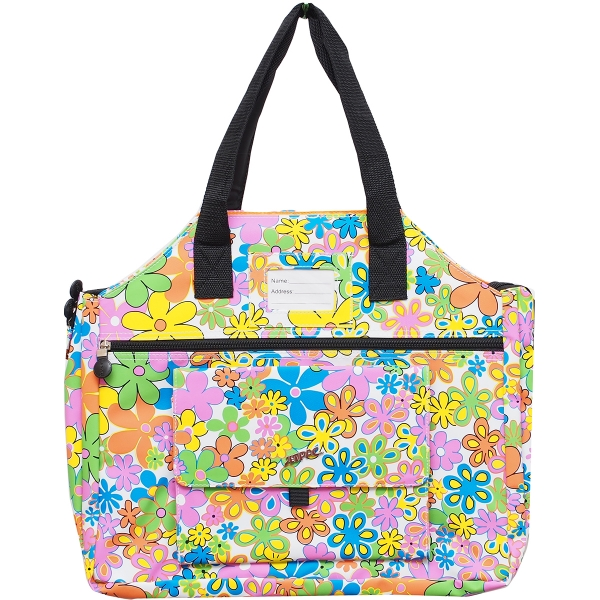 Jet Flower Power White Tennis Tote
