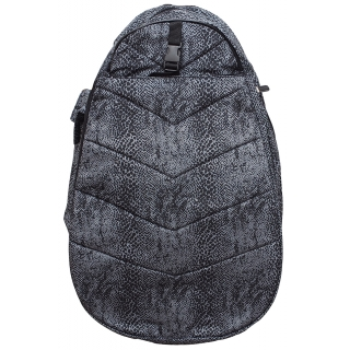 Jet Dark Grey Snake Two Strap Backpack
