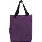 Maggie Mather Tennis Tote with Zipper Closure (Plum) - Maggie Mather