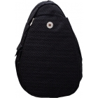 Jet Black Heart Large Sling - Tennis Sling Bag
