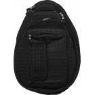 Jet Black Mesh Petite Backpack - Designer Tennis Backpacks